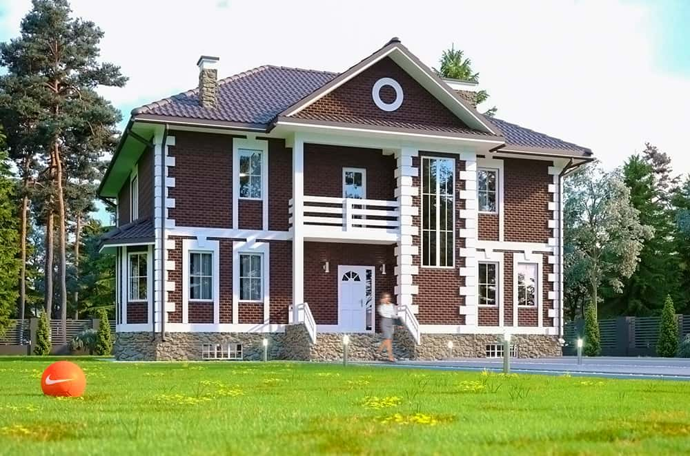 проект каркасно-панельного дому Фен-шуй