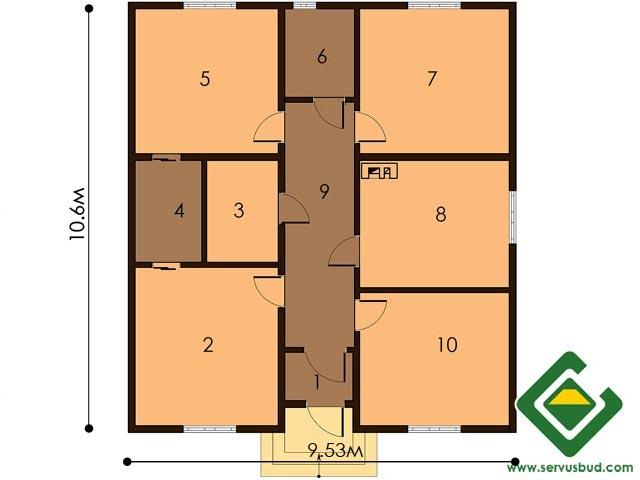 изображение первый_этаж Проект «Дуплекс»