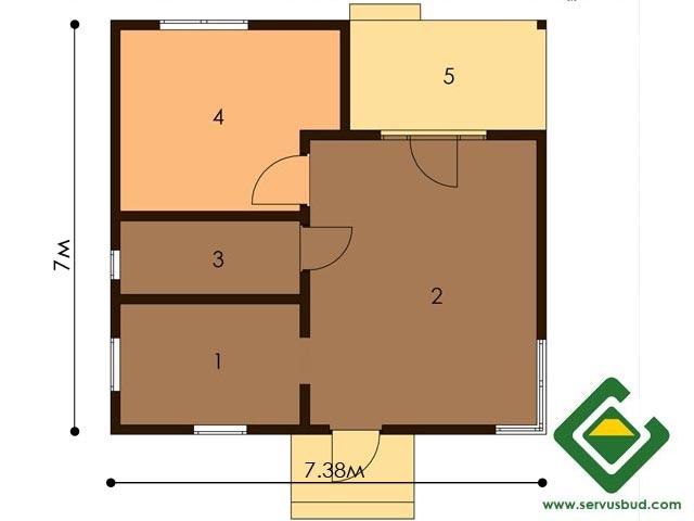 изображение первый_этаж Проект «Дачный дом 1»