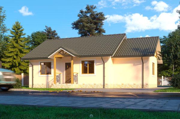 каркасно панельный дом проект Бершка
