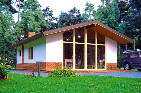 дачниый дом по каркасной технологии проект