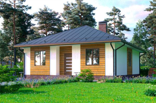 Проект Дуплекс каркасный дом