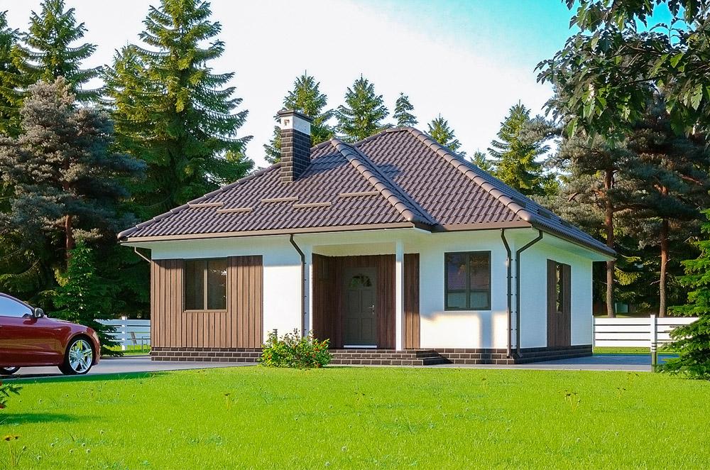 Теплый деревьяный дом по канадской технологии строительства Грин