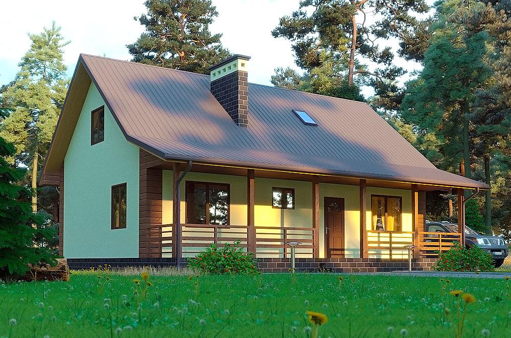 дачный дом проект Инга