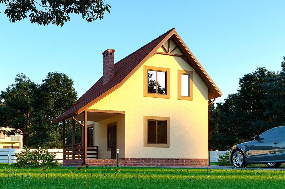 каркасный дом Николь, проект