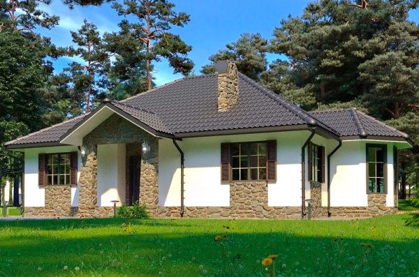 одноэтажный дом проект София