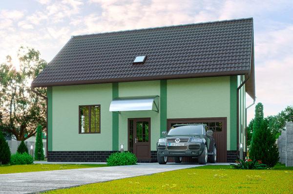 деревянный дом по проекту Тюльпан