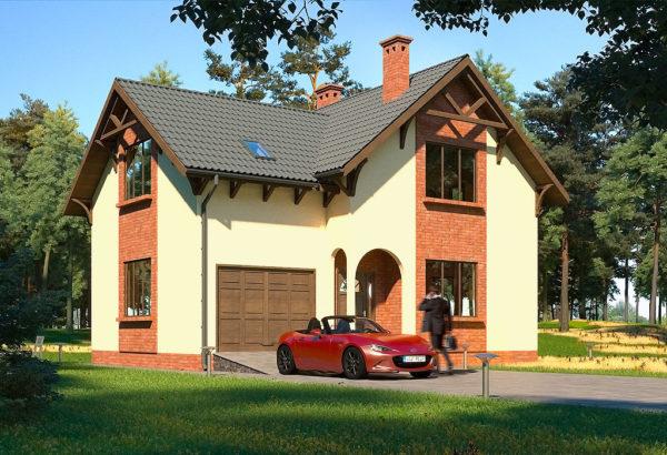 каркасно-панельный дом Валери