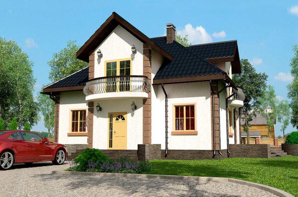 дом из СИП панелей проект Варшава