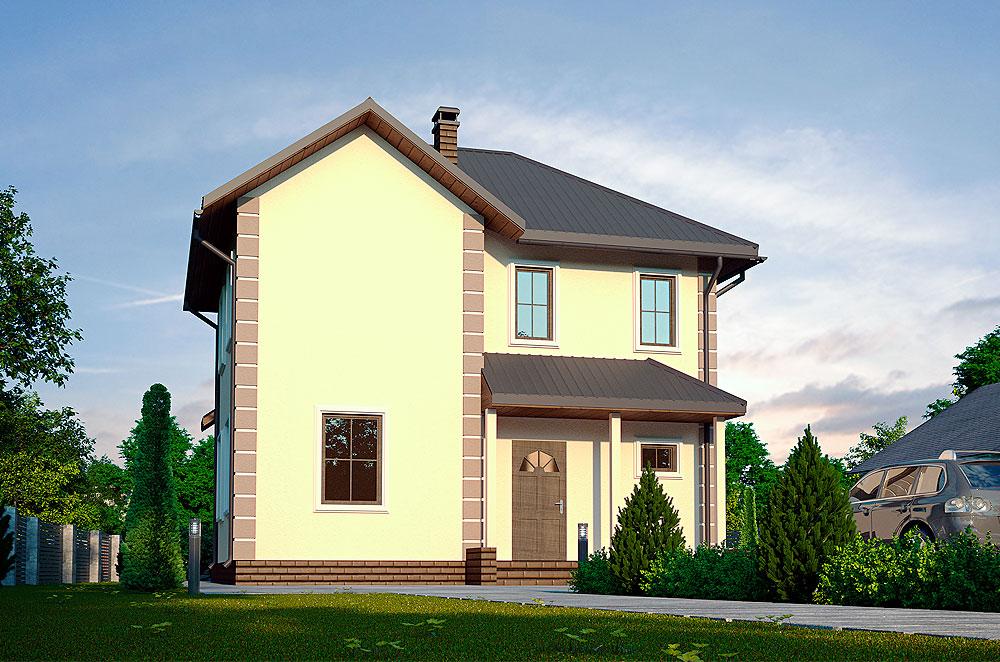 проект каркасно-панельного будинку Зена