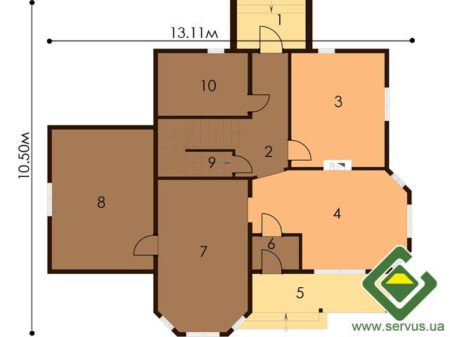 изображение первый_этаж Проект «Лесничий 2»