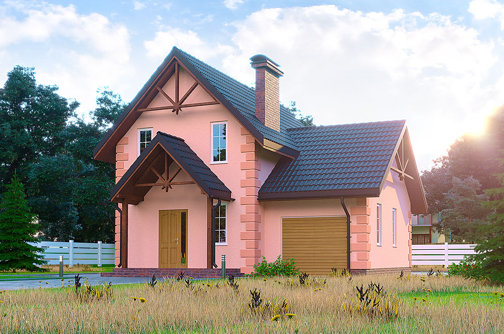 затишний будинок із мансардою проект Кармен