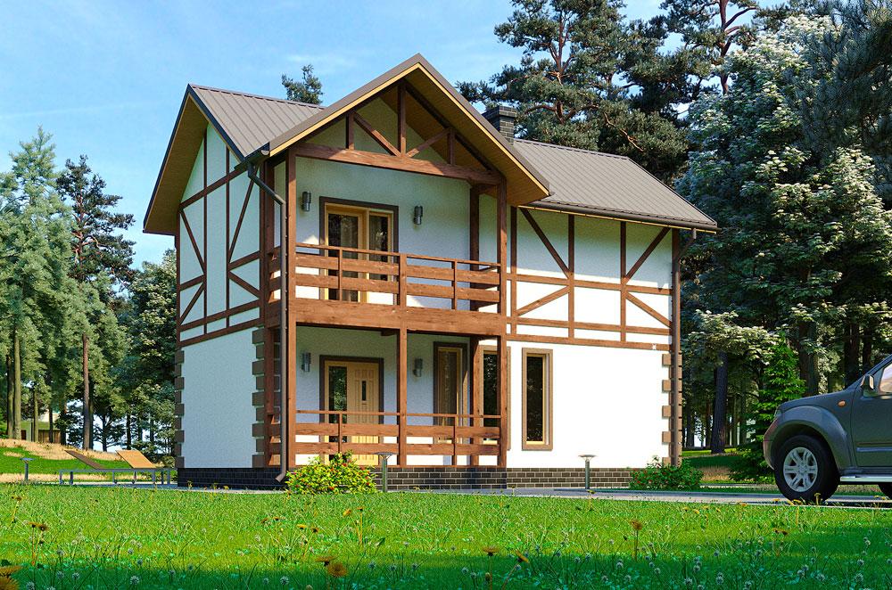 Каркасный дом сервус проект Метро