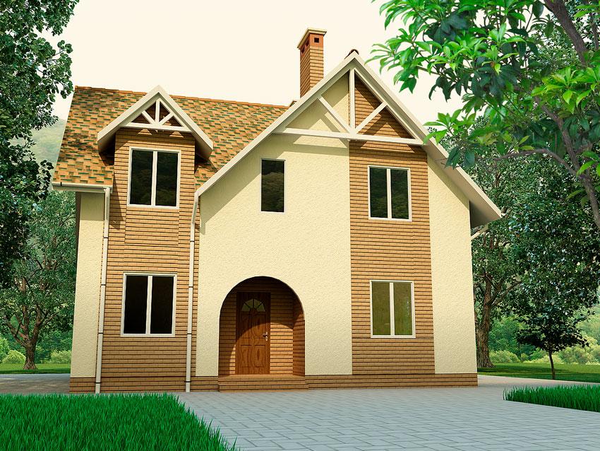Каркасно-панельный дом по технологии SIP дом Андреа