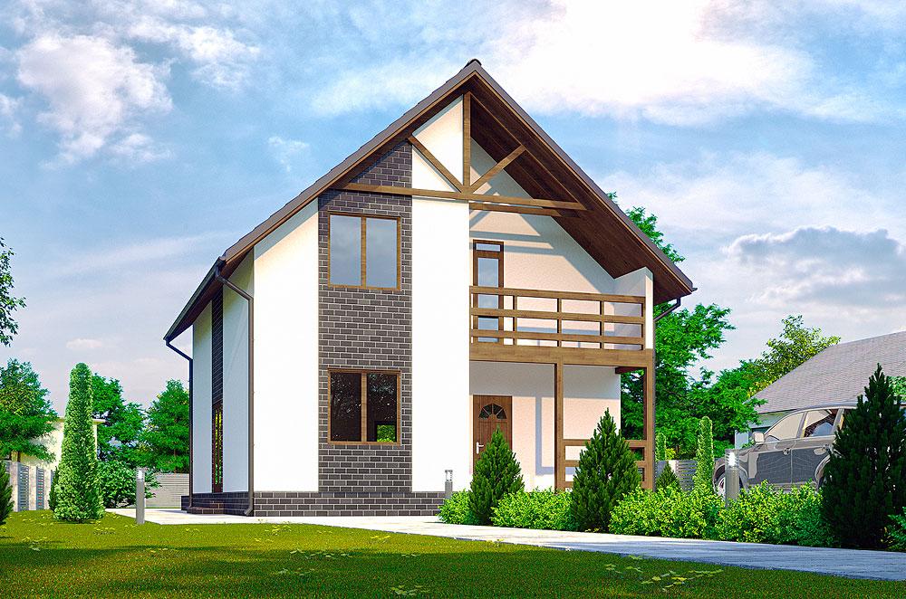 проект двухєтажного дома Бордо