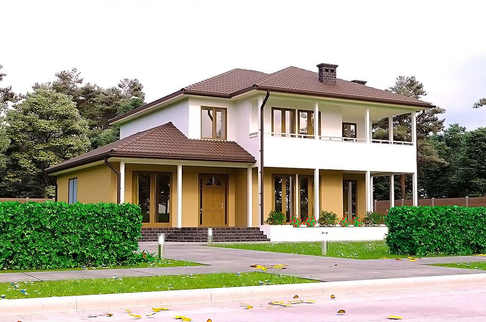 проект двухєтажного дома Саванна