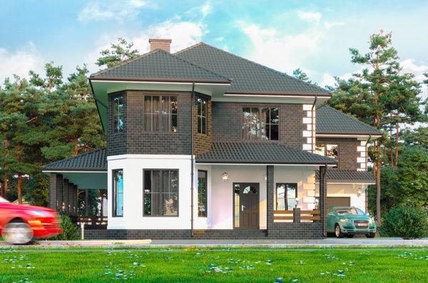канадский СИП дом, проект Солонка