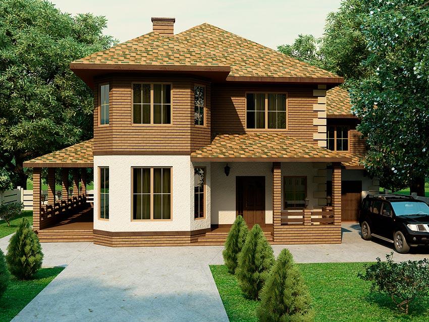 Красивые двухэтажные дома фото