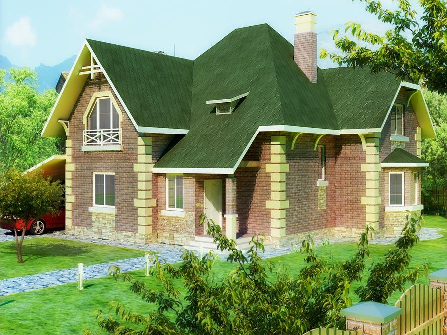 Каркасно-панельный дом Пастораль