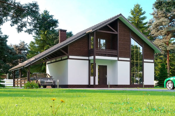 проект каркасно-панельного дома Актеон