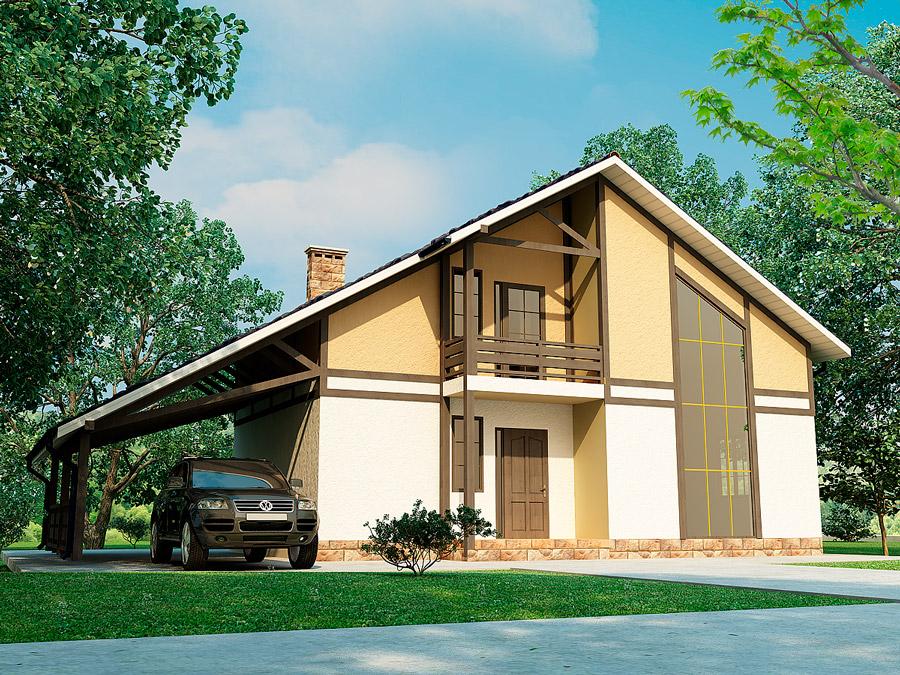 Каркасно-панельный дом Актеон 2