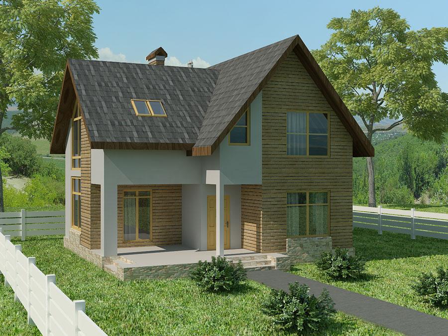 Каркасно-панельный дом по технологии SIP - Арес