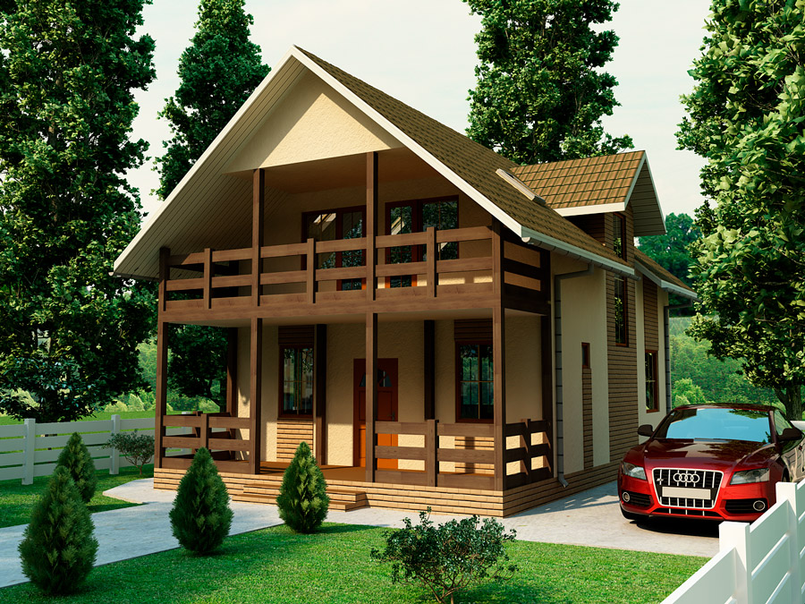 """Проект небольшого дома """"сюзи 2"""" 128,85 м2 - сервус сумы."""