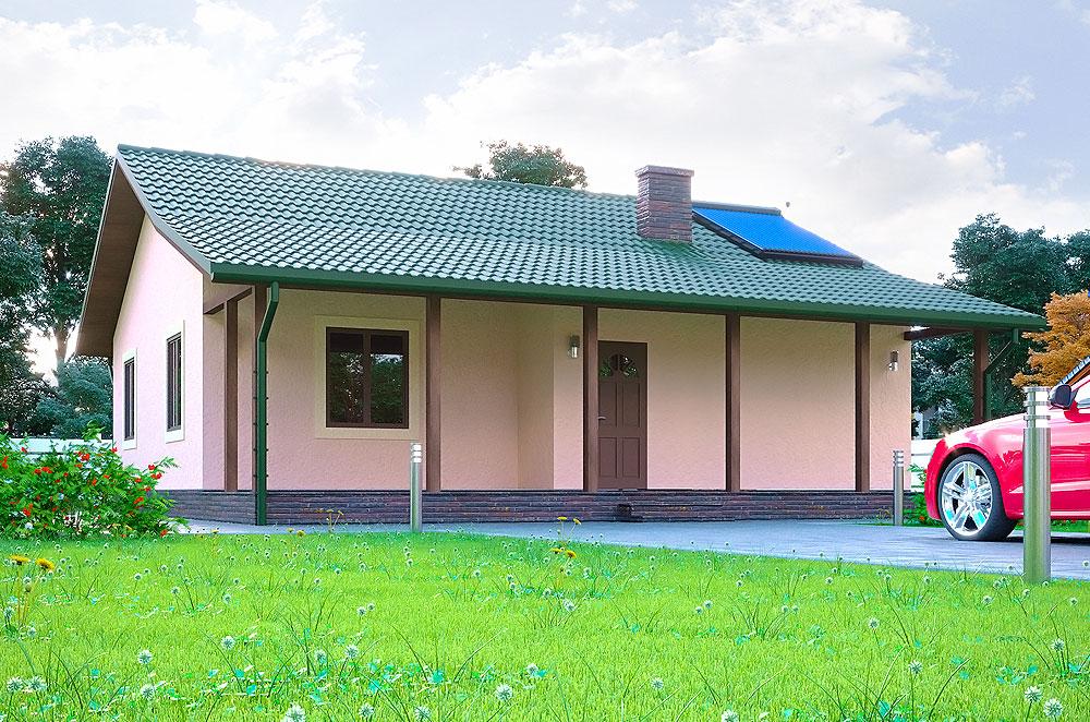 Каркасно-панельный дом по проекту Клио