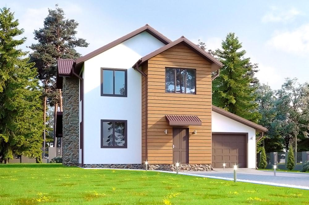 Каркасно-панельный дом по проекту Пирэй