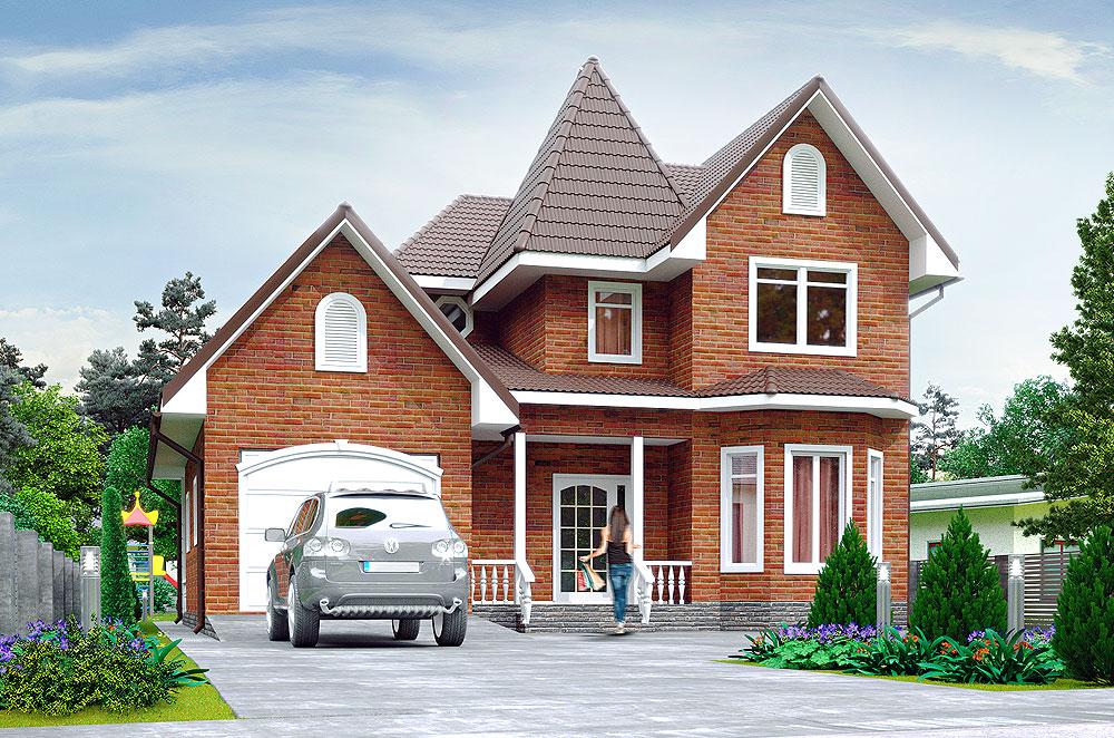 Каркасно-панельный дом Рокфор