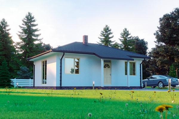 проект одноєтажного дома Кастор по канадской технологии