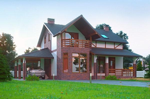 проект канадского дома с мансардой Гамбург