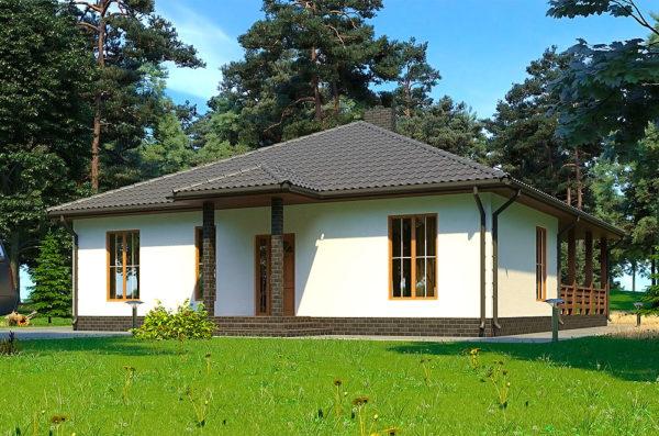 проект одноєтажного каркасного дома Тарас