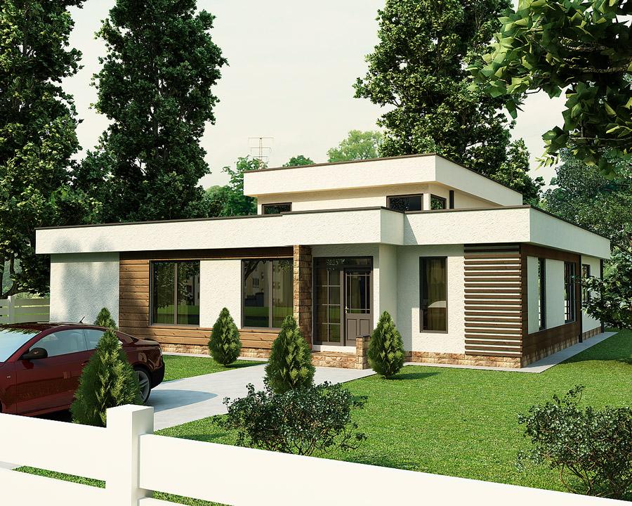 Проект каркасно-панельного дома Ретимно