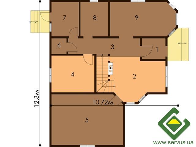 изображение первый_этаж Проект «Лесничий 8»