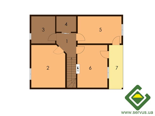 изображение второй_этаж Проект «Лесничий 8»