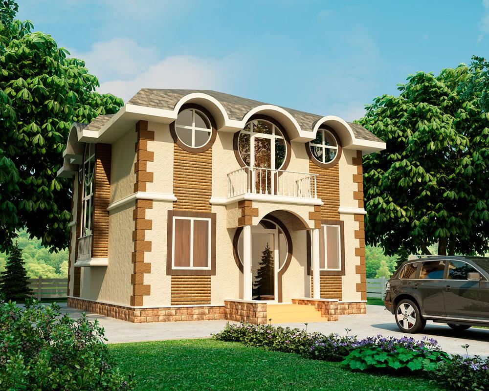 Каркасно-панельный дом Гурон