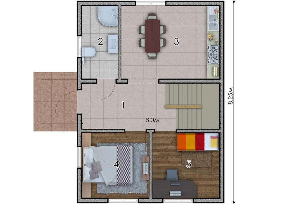 изображение первый_этаж Проект «Гектор 4»