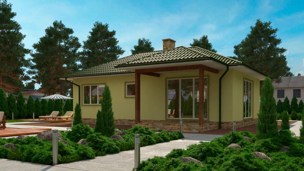 Энергоеффективный дачный дом Сервус проект Кили