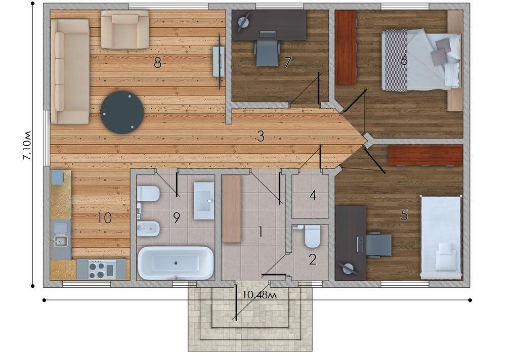 изображение первый_этаж Проект «Лони»