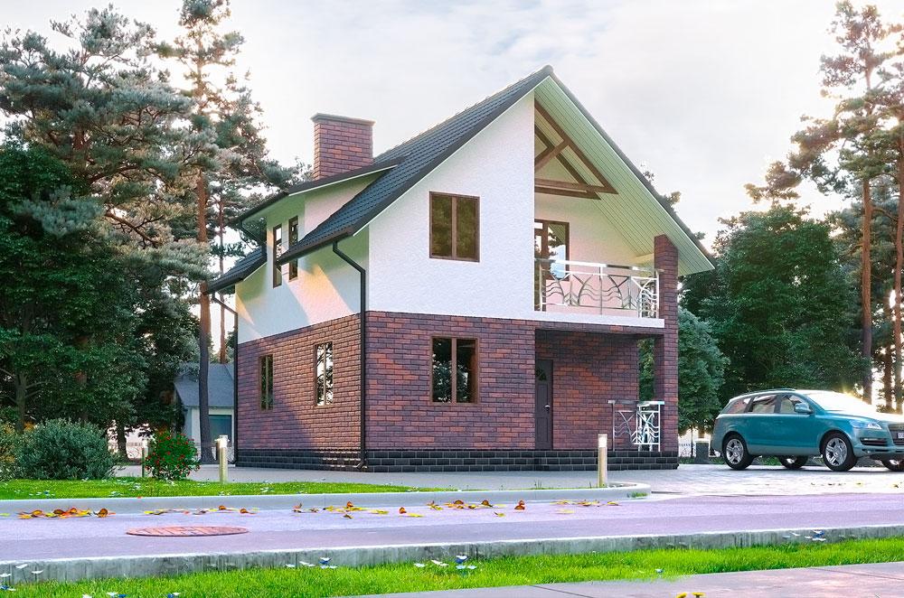 проект дома с мансардой Тиса