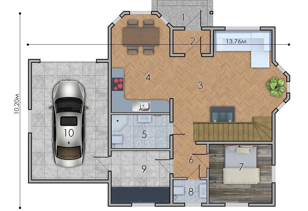 изображение первый_этаж Проект «Лесничий»