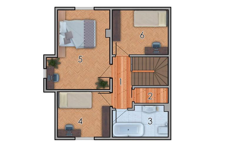 изображение второй_этаж Проект «Обітель» с гаражом