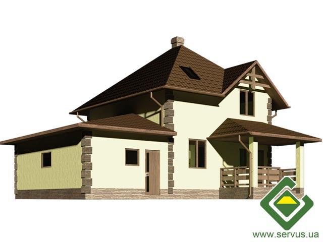 изображение фасады Проект «Обітель» с гаражом