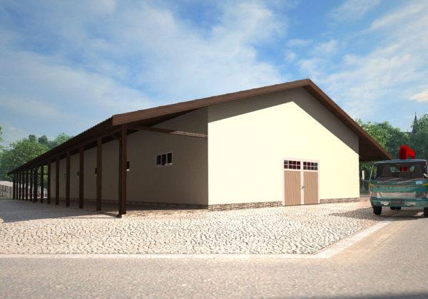 проект складского помещения по технологии СИП