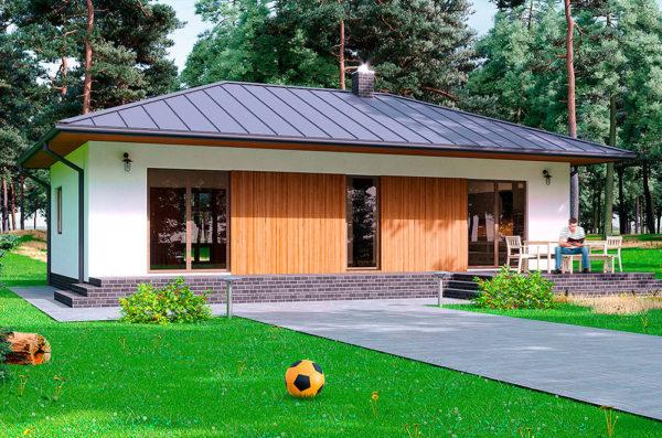проект одноэтажного дома СИП Левин