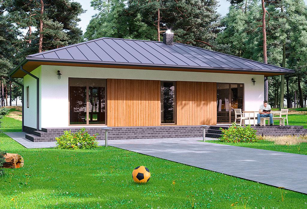 проект одноєтажного дома СИП Левин