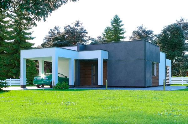 Проект Канадского дома хайтек Зефир