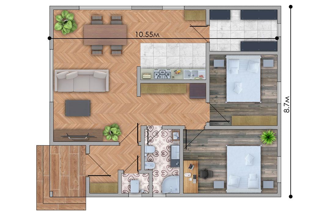 изображение первый_этаж Проект «С187-18»