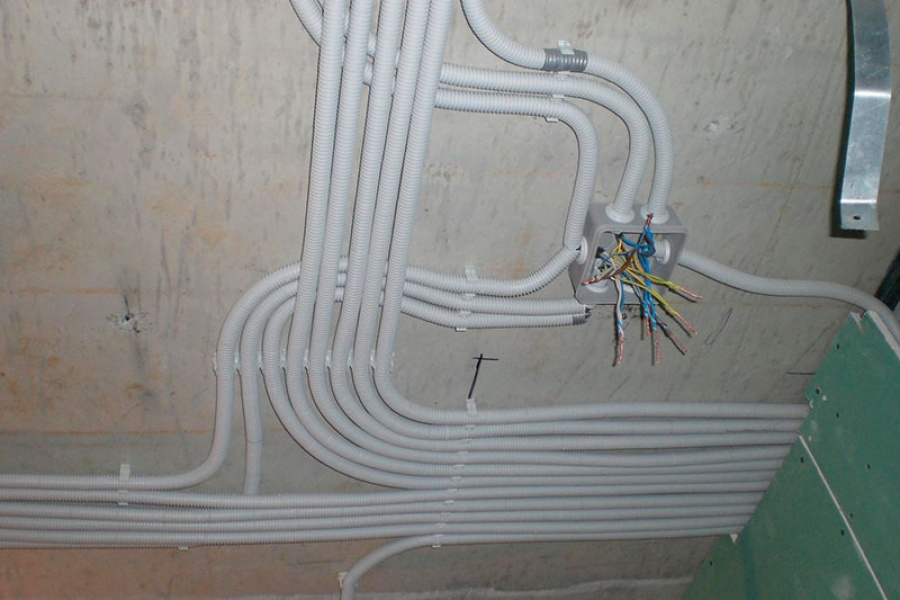 электрическая проводка в каркасном доме